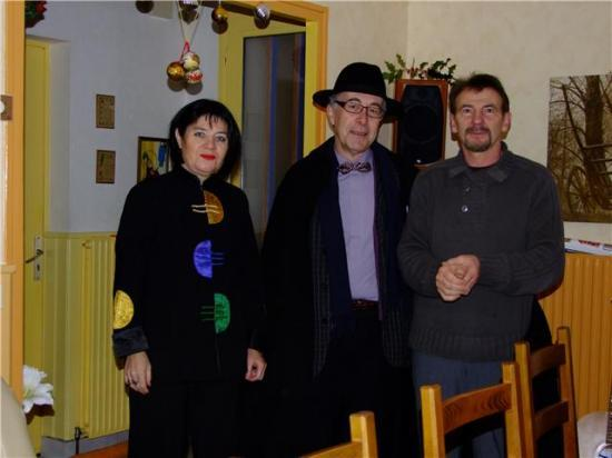 nouvel an 2010 avec Marie-Karine comédienne et Jean musicien